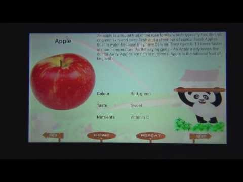 Video of Kids Learning Animals Fruits.
