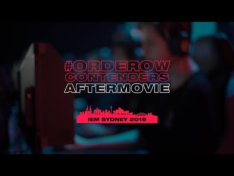 CONTENDERS AFTERMOVIE | IEM SYDNEY 2019 | #ORDEROW