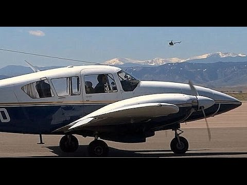 Classic 1972 Piper Aztec (PA-23-250) - Engine Start and Taxi