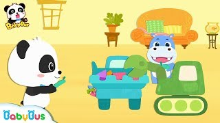 Baby Panda's Remote Control Truck | Build a Big House | Learn Shapes for Kids | BabyBus