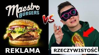 REKLAMA MCDONALDS vs. RZECZYWISTOŚĆ - BURGERY MAESTRO a  PASIBUS I BOBBY BURGER!