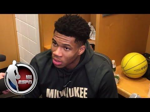 Giannis Antetokounmpo on Bucks' performance, Blake Griffin trade to Pistons | ESPN