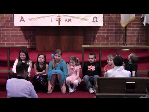 Children 2/2/14 at Trinity Lutheran Church, Gadsden, AL