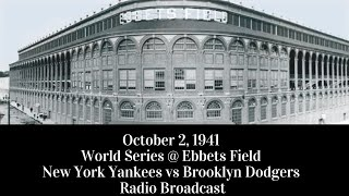 October 2, 1941 World Series Game 2 Brooklyn Dodgers @ New York Yankees