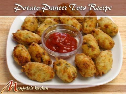 Potato Paneer and Jalapenos Tots Recipe by Manjula