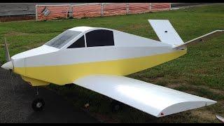 "100"" Giant Foam Rc Davis DA-2 scatch built ""Maiden Flight"""