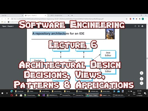 #Software #Engineering - Lecture 6 : Architectural Design Decisions, Views, Patterns & Applications