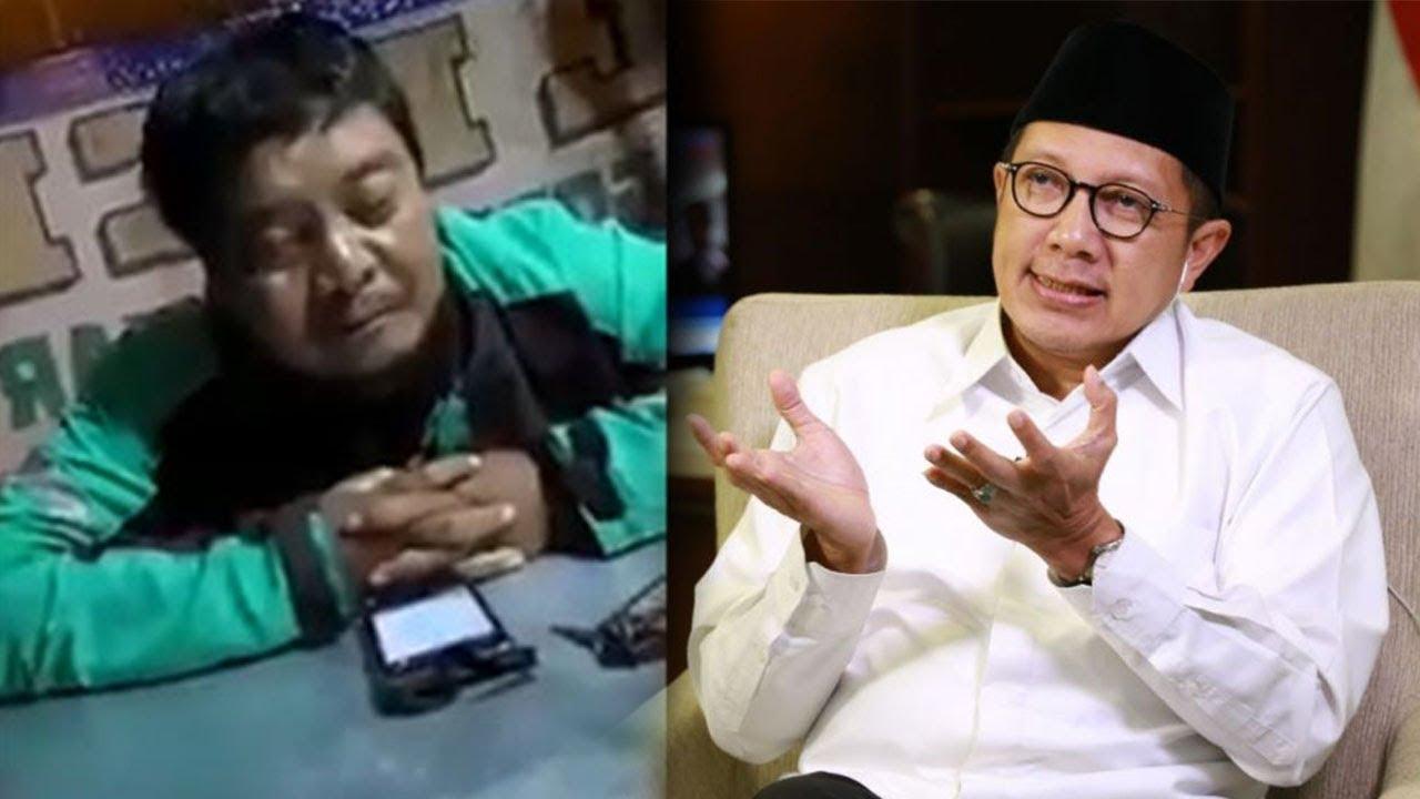 Viral Video Driver Ojol Terkantuk-kantuk Menanti Orderan, Menteri Agama Terharu dan Beri Doa