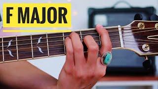 F major chord - 3 ways!   Beginner Guitar Lesson