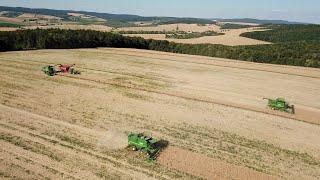 Moravia Harvest - 2x John Deere S680i, 2x T660, 8430 + Horsch titan 34 UW