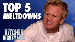 GORDON RAMSAY'S TOP 5 MELTDOWNS! - Kitchen Nightmares