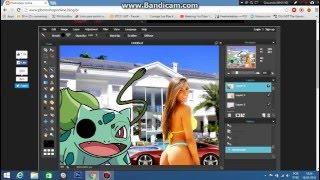 criando montagem simples no photoshop online