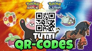 Tutti QR-CODES Di Pokemon Sole E Pokemon Luna