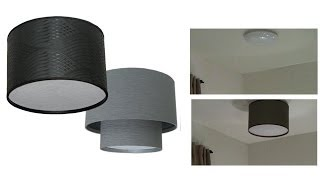 How To Make A DIY Drum Shade Ceiling Light Cover