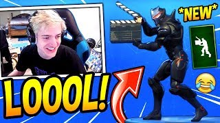 "NINJA REACTS TO *NEW* ""TAKE 14"" MOVIE EMOTE/DANCE! Fortnite FUNNY & SAVAGE Moments"