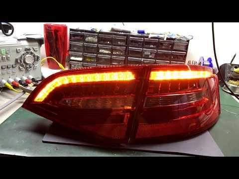 Audi A4 B8 matrix dynamic indicators blinker kierunkowskazy dynamiczne