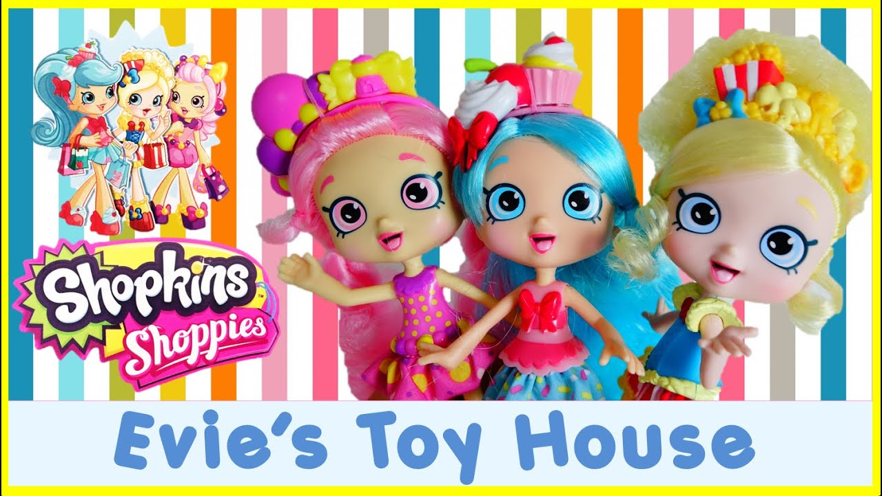 Shopkins Shoppies Dolls - Full Set - Popette Jessicake Bubbleisha With Exclusives | Evies Toy House