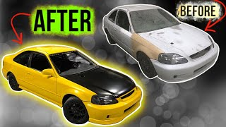 BUILDING A 10 SECOND K24 AWD CIVIC IN 10 MINUTES!