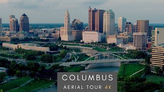 Downtown Columbus - 4K AERIAL DRONE