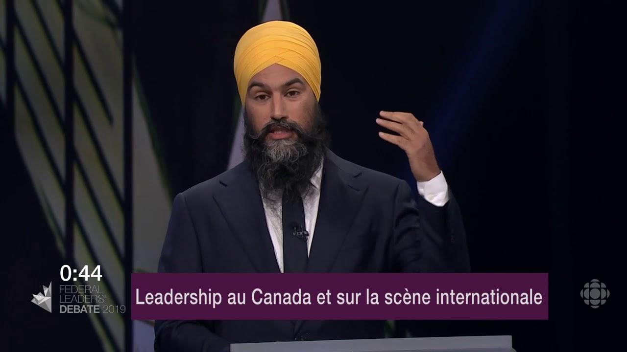 Maxime Bernier et Jagmeet Singh débattent sur la représentation du Canada à l'étranger