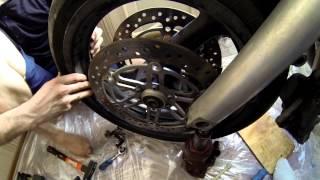 Порошковая покраска дисков или как снять переднее и заднее колеса на мото