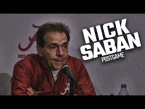 Watch Nick Saban address the press after win over Mississippi State