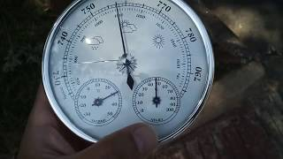 Analog Weather Station Review (thermometer, hygrometer, barometer) - Skywind007