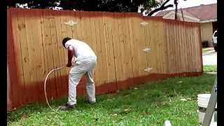 Techniques Idea How to Paint a Wood Fence in less 5 Minutes