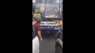 Arrogant Bus Driver Road Rage Counterflow In Philippines