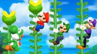 Mario Party 9 Step It Up - Yoshi vs Mario vs Luigi vs Waluigi Master Difficulty  Cartoons Mee