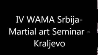 IV WAMA Seminar - Kraljevo 2013