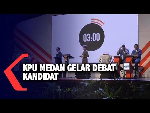kpu medan gelar debat kandidat