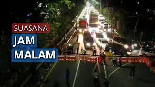 Suasana Jam Malam di Kota Sidoarjo, Semua Kegiatan Berhenti Pukul 22.00 WIB