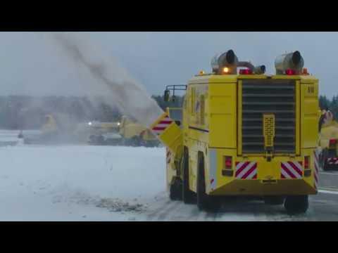 Näin lumet luodaan Norjalaisella lentokentällä