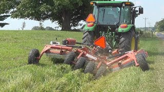 Beats The Pants Off A Weed Eater!! 10' Batwing Mowing Ditch Banks & Barn Lot