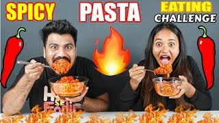 BROTHER VS SISTER EXTREME SPICY PASTA EATING CHALLENGE | Food Challenge India(Ep-82)