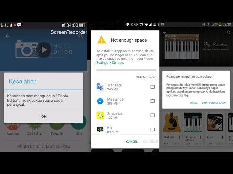 """Video Tips Mengatasi Tak Bisa Instal Aplikasi di Android Playstore -""""Penyimpanan tidak cukup"""""""