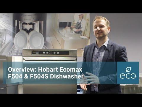 Overview: Hobart Ecomax F504 & F504S dishwasher