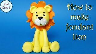 How to make fondant lion / Jak zrobić figurkę lwa z masy cukrowej