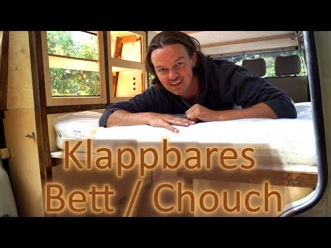 KLAPPBARES BETT / COUCH IN UNSEREM VW BUS - VW T4 CAMPER AUSBAU F.09