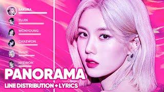IZ*ONE - Panorama (Line Distribution + Lyrics Color Coded)