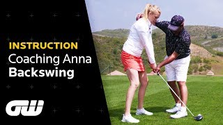 The PERFECT BACKSWING Explained   Michael Campbell Tips   Coaching Anna   Golfing World