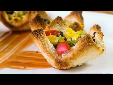 Instant Pizza Cups / Bread Pizza Cups / Katori Pizza – Easy Anytime Snack