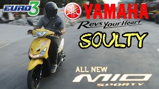 REVIEW OF YAMAHA MIO SOULTY SPORTY 2018-TAGALOG (BASIC SPECS, IMPRESSIONS, PERFORMANCE)