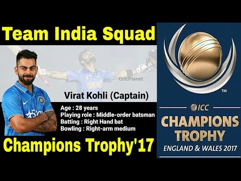 Indian Squad for Champions Trophy 2017 - ICC Champions Trophy 2017 | CricPlanet | MTW