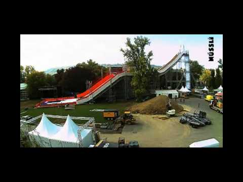 Freestyle.ch Construction of Big Air Jump in Zurich by NUSSLI