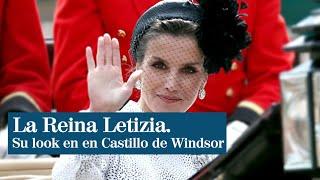 El look de Letizia en el acto de investidura de la Orden de la Jarretera en Londres