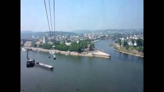 preview picture of video 'BUGA Koblenz 2011 - Seilbahn bei Traumwetter'