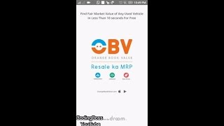 App Review: How Orange Book Value work - How to Check Resale value of Used Product on OBV.