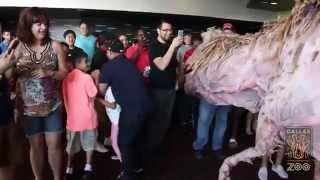 T-Rex Stops By Local Cinemark Theatre in Dallas Texas